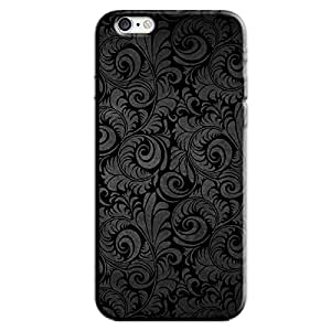 BLACK ABSTRACT DESIGN BACK COVER FOR APPLE IPHONE 6 PLUS