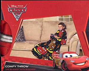 Disney Pixar Cars 2 Comfy Throw Blanket with Sleeves - Mater and Lightning McQueen at Sears.com