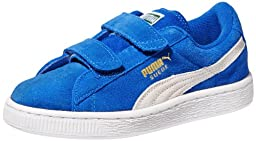 PUMA Suede Classic 2-Strap Sneaker  , Snorkel Blue/White, 7 M US Toddler