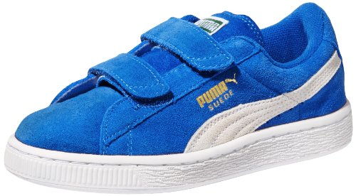 Puma Suede Classic 2-Strap Sneaker (Toddler/Little Kid/Big Kid),Snorkel Blue/White,2 M Us Little Kid front-1052952