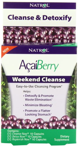 Natrol Acaiberry Weekend Cleanse Capsules, 30 Count