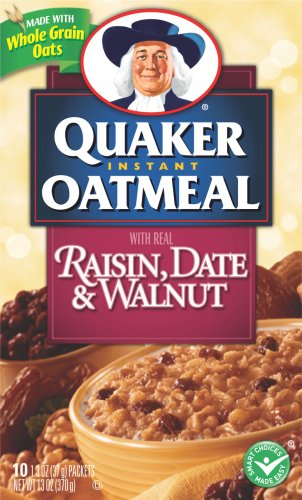QUACKER  DATE  RAISIN AND NUT OATMEAL