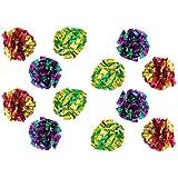 MYLAR Crinkle Balls Cat Toys - 12 Pack