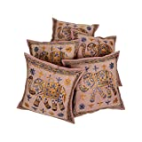 Rajrang Indian Design Ethnic Cushion Pillow Cover 16 By 16 Inches Set 5 Pcs - B00RQDO7Y4