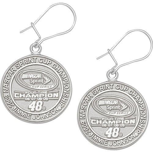 LogoArt Jimmie Johnson 2009 Sprint Cup Champion Dangle Earrings