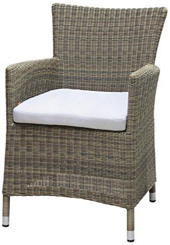 Siena Garden 255261 Sessel Ballina Aluminium-Gestell Gardino®-Geflecht mix-natur inkl. Kissen taupe, Aluminium-Fußkappen günstig kaufen