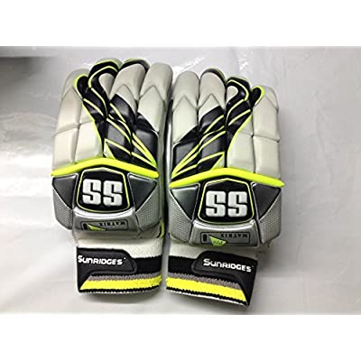 SS Matrix Men's RH Batting Gloves (Yellow/Silver )