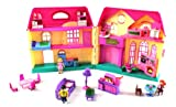 My Happy Family Big Deluxe Battery Operated Toy Doll House Playset, Comes w/ Mom, Dad, & Daughter Figures, Huge Doll House, Working Doorbell, Furniture, and Accessories