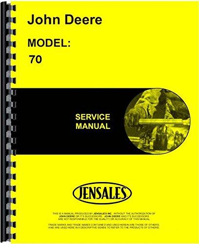 John Deere 70 Skid Steer Loader Service Manual JD-S-TM1072