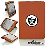 New SLEEP SMART Apple iPad Mini & iPad Mini with Retina leather Case By Calaboy- Interchangeable Design - Personalized Picture Frame w Oakland Raiders Logo (FB2) at Amazon.com