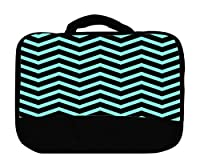 Insulated Canvas Lunch Bag, Popular Mint Chevron by Exclusive Design