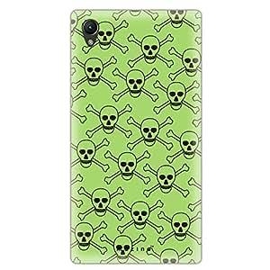 Mozine Green Skull printed mobile back cover for Sony xperia z2