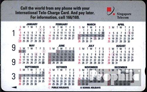 Singapur 1130 5 $ gebraucht Kalender93 (Telefonkarten für Sammler)