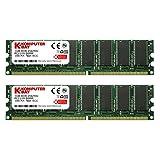 KOMPUTERBAY 2GB ( 2 X 1GB ) DDR DIMM (184 PIN) 266Mhz DDR266 PC2100 DESKTOP MEMORY KIT (Tamaño: 2GB (2 X 1GB))