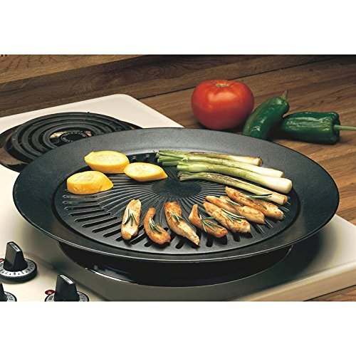 New Smokeless Indoor STOVETOP BBQ GRILL Barbeque Kitchen Barbecue Pan Griddle (Sear Indoor Grill compare prices)