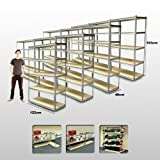 120CM WIDE SET OF 10 HEAVY DUTY 5 TIER SHELF SHELVING UNITS. GARAGE STORAGE RACKING SHED OFFICE