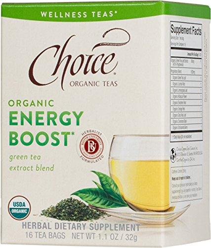 Choice Organic Teas Tea Bag, Energy Boost, 16 Count