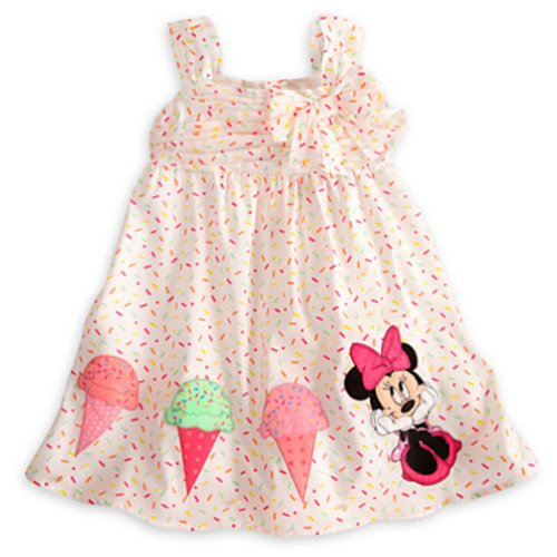 Cm-Cg Baby Girls' Mickey Mouse Bowknot Princess Spaghetti Cami Dresses 3-24M