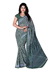 LOVELY LOOK Green Printed Saree