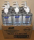 12 x 240ml Purell Instant Hygienic Hand Sanitizer Gel Rub Pump Bottle Medical BN