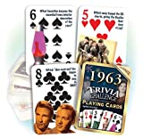 Flickback 1963 Trivia Playing Cards