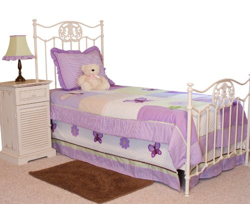 Pam Grace Creations Twin Bedding Set, Lavender Butterfly front-731346