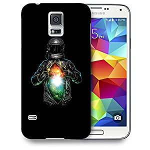 Snoogg Galaxy Inside The Astronaut Designer Protective Back Case Cover For SAMSUNG GALAXY S5