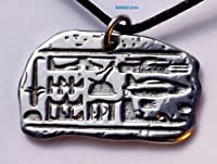 Abydos Anomaly - Pewter Pendant - Egypt, Egyptian, UFO, Alien, Helecopter, Ancient Astronauts