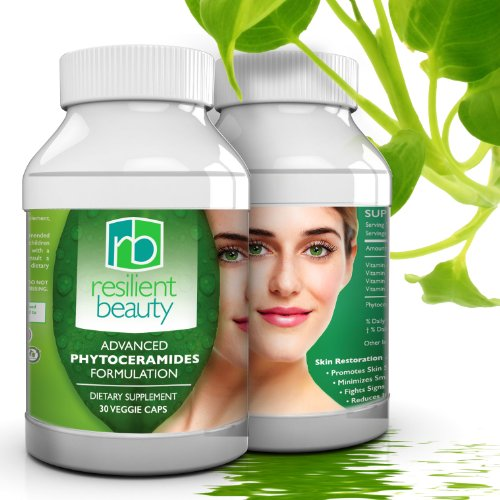 Best Phytoceramides Capsules for Skin Restoration. 100% Natural Anti-Aging Supplement Provides Advanced Moisturizing and Hydration for Skin, Nails, Hair, and Facial Rejuvenation - 350MG Skin Vitamins - Wrinkle Reduction + Natural Facelift to Prevent Signs of Aging without Botox (Resilient Beauty Advanced compare prices)