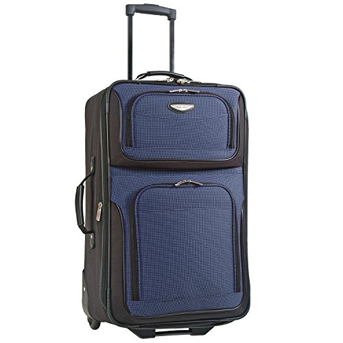 Travelers Choice Travel Select Amsterdam 25-Inch Expandable Rolling Upright, Navy, One Size (Lightweight Upright Suitcase compare prices)