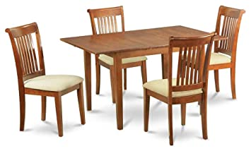 5-Pc Dining Set with 12 in. Butterfly Leaf