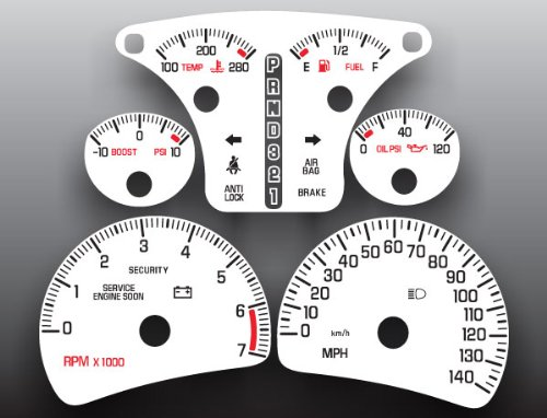 2000-2005 Pontiac Bonneville SSEi White Face Gauges (Pontiac Bonneville Ssei compare prices)