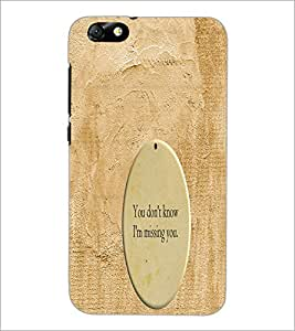 PrintDhaba Quote D-3278 Back Case Cover for HUAWEI HONOR 4X (Multi-Coloured)