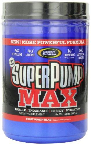 Gaspari Nutrition  Super Pump Max, Fruit Punch, 1.41-Pounds