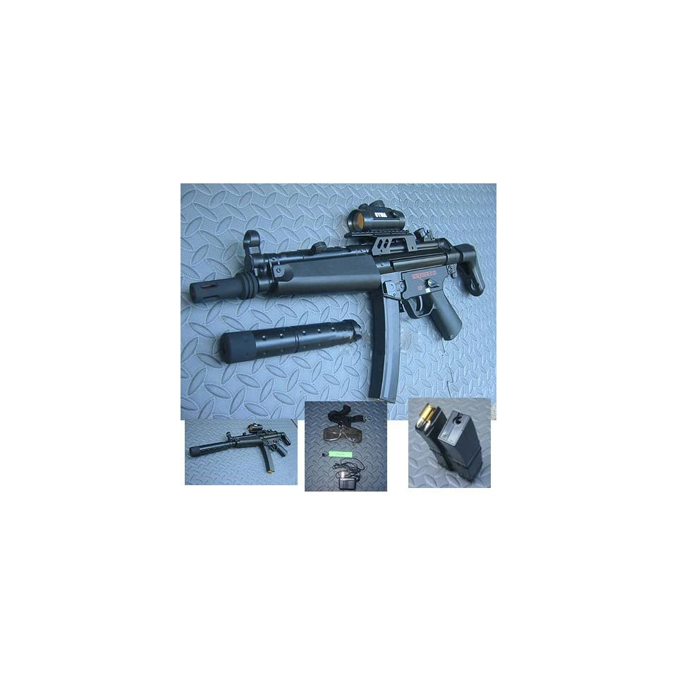 MP Full Auto AEG Airsoft Gun with Silencer on PopScreen