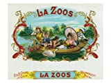 51Gn81akorL. SL160  La Zoos Brand Cigar Box Label, Nautical Premium Poster Print, 32x24