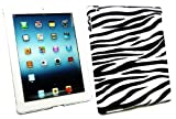 Emartbuy® New Ipad 3 & Apple Ipad 2 Zebra Black / White Clip on Protection Case / Cover / Skin Compatible With Smart Cover (All versions Wi-Fi and Wi-Fi + 3G/4G - 16GB 32GB 64GB)