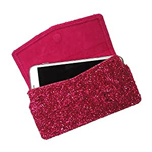 i-KitPit : PU Leather Pouch Case With Magnetic Closure For Samsung Galaxy Note 1 (PINK)