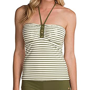 Sperry Top-sider Front Lines Sequin Swim Bandana Top (Large, Ivory/Green)