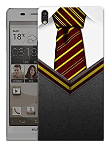 """Humor Gang British Classroom Tie Printed Designer Mobile Back Cover For """"Huawei Acsend P6"""" (3D, Matte, Premium Quality Snap On Case)"""