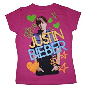Justin Bieber Clothes  Girls on Amazon Com  Justin Bieber   Felt Pen Remix   Youth Girls T Shirt