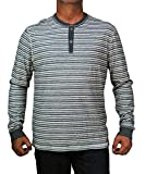Converse by John Varvatos Men`s Long Sleeve Striped Henley Shirt