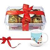 Great Admire Of Wrapped Truffles With Christmas Mug - Chocholik Luxury Chocolates