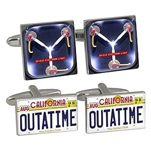 Time Traveller Cufflink Set with Leather Presentation Case