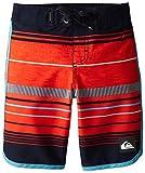Quiksilver Little Boys Pacific Stripe Boardshort, Mandarin Red, 6