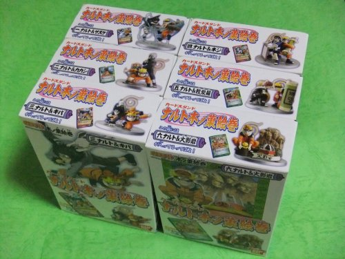 Card stand Naruto Konoha emaki 6 kinds set set.