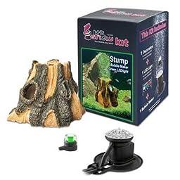 Hydor H2Show Wonders Ornament Kit - Stump, Green LED