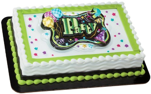 Party Glitter DecoSet Cake Decoration - 1