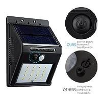 VicTsing 4PCS 16 LED 320 Lumens Bright Outdoor Solar Powered Motion Sensor LED Light/ Wall Light/ Security Lighting by VicTsing