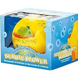 Yellow Bright Bubble Machine Battery Powered Fun Childrens Bubble Blower